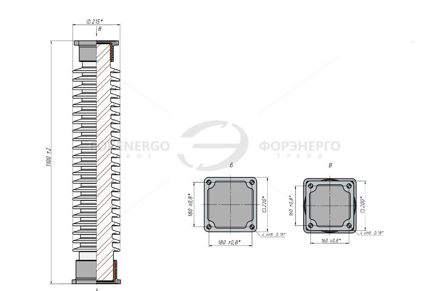 Изоляторы опорные стержневые фарфоровые типа ИОС 110