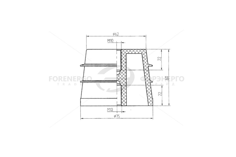 Изоляторы опорные ребристые  типа ИОРП-1-2,5 УЗ и типа 2820П
