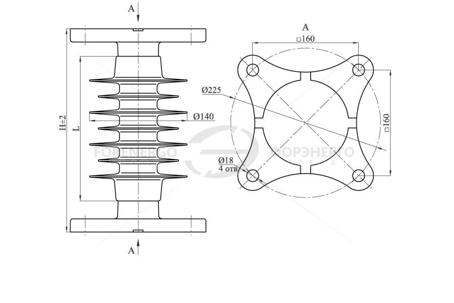 Изоляторы опорные полимерные типа ОСК 20-10-4 на напряжение 10 кВ