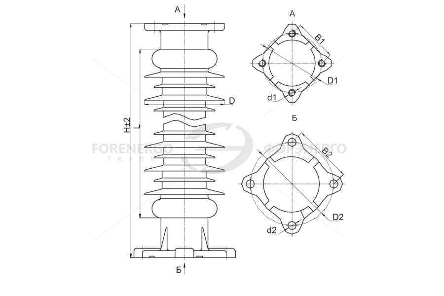 Изоляторы опорные полимерные типа ОСК 6-110, ОСК 8-110, ОСК 10-110, ОСК 12,5-110 на напряжение 110 кВ