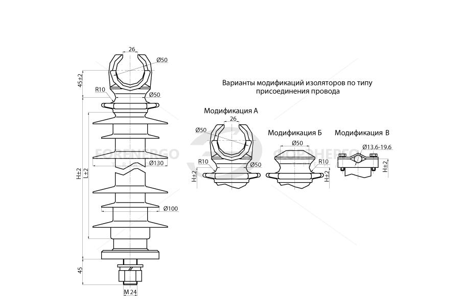 Изоляторы опорные линейные типа ОЛСК 12,5-35 на напряжение 35 кВ