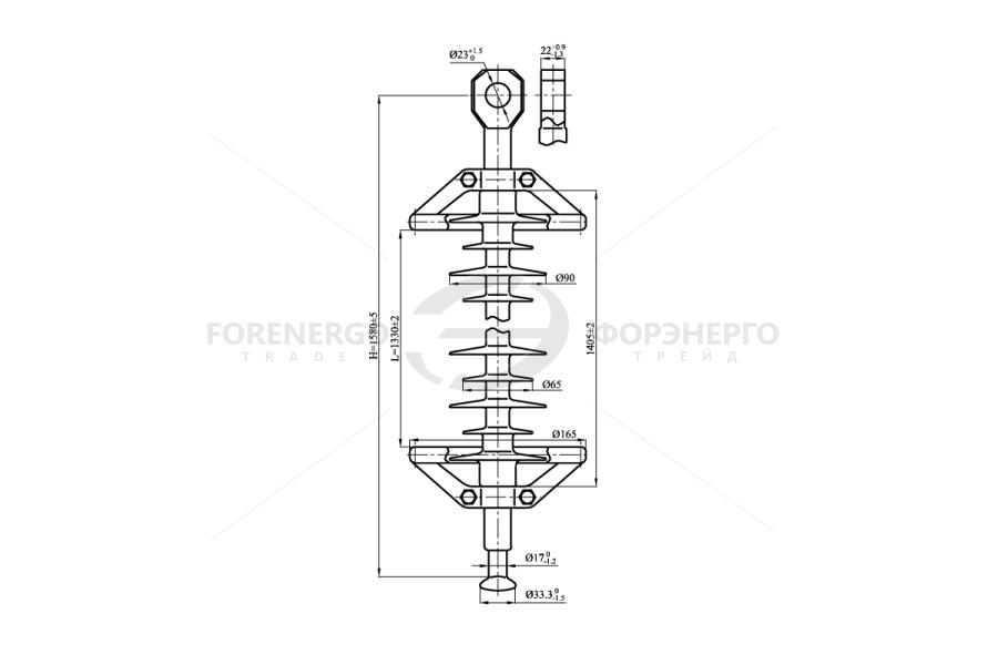 Изоляторы линейные подвесные полимерные типа ЛК 70/150-И, ЛК120/150-И на напряжение 150 кВ