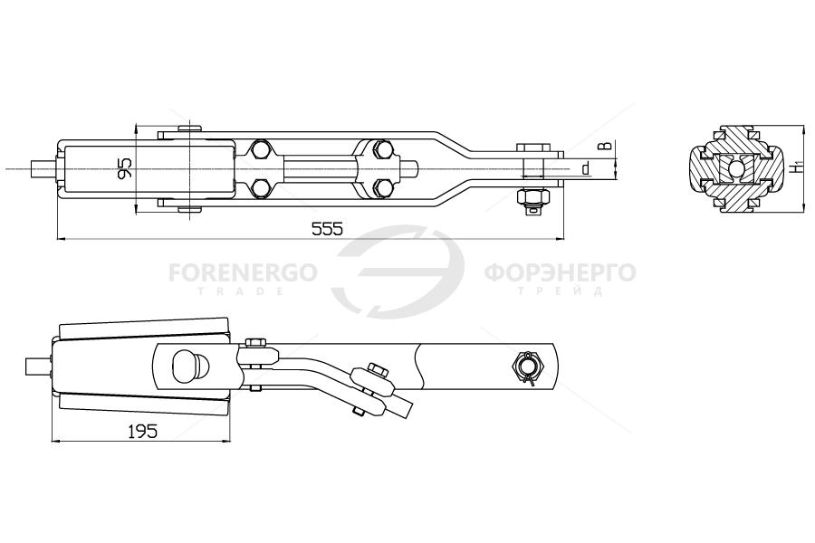 Зажимы натяжные клиновые НК-120 и НК-160