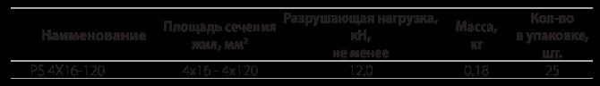 Поддерживающий зажим PS 4х16-120